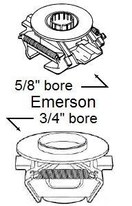 Emerson rotating switch drawing